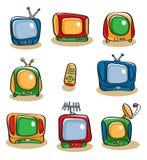 De Reeks van het Pictogram van TV Royalty-vrije Stock Foto's