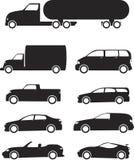 De Reeks van het Pictogram van voertuigen vector illustratie