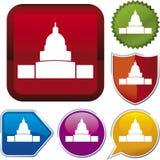 De reeks van het pictogram: wit huis Stock Afbeeldingen