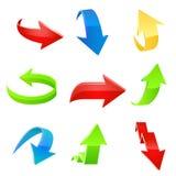 De reeks van het pijlpictogram. Vector Royalty-vrije Stock Afbeeldingen