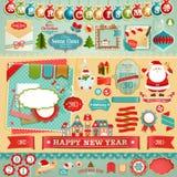 De reeks van het Plakboek van Kerstmis Stock Afbeeldingen