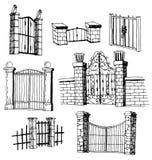 De Reeks van het poortpictogram, vectorillustratie Stock Fotografie