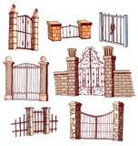 De Reeks van het poortpictogram, vectorillustratie Stock Afbeelding