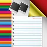 De reeks van het potlood Stock Foto
