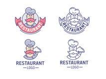 De reeks van het restaurantembleem Vector Illustratie