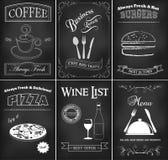 De reeks van het restaurantmalplaatje Stock Foto's