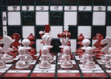De reeks van het schaakstukkenleger royalty-vrije stock foto