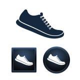 De reeks van het schoenpictogram, geïsoleerde illustraties Royalty-vrije Stock Fotografie