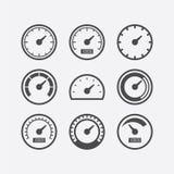 De reeks van het snelheidsmeterpictogram Royalty-vrije Stock Afbeeldingen