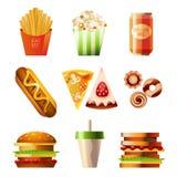 De Reeks van het snelle Voedsel Stock Foto's