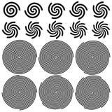 De Reeks van het spiralenpatroon Stock Foto's