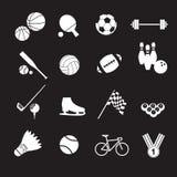 De reeks van het sportpictogram Stock Foto