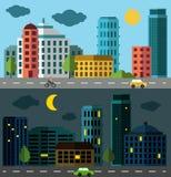De reeks van het stadspanorama Royalty-vrije Stock Afbeeldingen