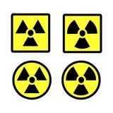 De reeks van het stralingspictogram Royalty-vrije Stock Foto