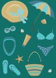 De reeks van het strand. royalty-vrije illustratie