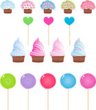 De reeks van het suikergoed Stock Afbeeldingen