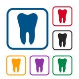 De reeks van het tandpictogram Royalty-vrije Stock Afbeeldingen