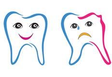 De reeks van het tandsymbool. royalty-vrije illustratie