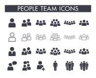 De reeks van het het teampictogram van persoonsmensen vector illustratie