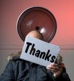 De Reeks van het Teken van dank Stock Fotografie