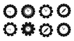 De reeks van het tijdpictogram royalty-vrije illustratie