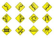 De reeks van het verkeerspictogram Stock Afbeeldingen