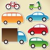 De reeks van het vervoer Stock Afbeelding