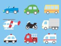 De reeks van het vervoer stock illustratie