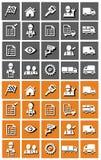 De reeks van het vervoerspictogram Royalty-vrije Stock Fotografie
