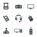 De Reeks van het videospelletjespictogram Stock Foto