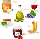 De reeks van het voedsel Stock Foto