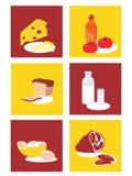 De reeks van het voedsel Stock Illustratie