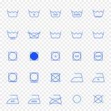 de reeks van het 25 wasserijpictogram Vector illustratie vector illustratie