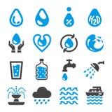 De reeks van het waterpictogram stock illustratie