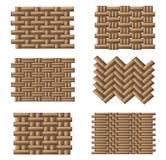 De reeks van het weefselpatroon Stock Afbeelding