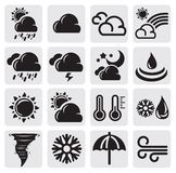 De reeks van het weer stock illustratie