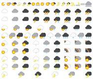 De reeks van het weerpictogram Royalty-vrije Stock Afbeelding