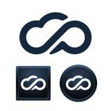 De reeks van het wolkenpictogram, geïsoleerde vectorillustraties Royalty-vrije Stock Foto's