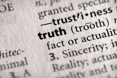 De Reeks van het woordenboek - Filosofie: waarheid royalty-vrije stock afbeeldingen