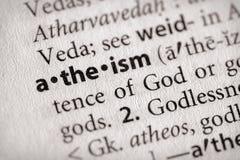 De Reeks van het woordenboek - Godsdienst: atheïsme royalty-vrije stock afbeelding