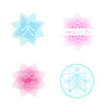 De reeks van het yogaembleem Stock Afbeeldingen
