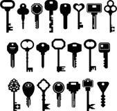De reeks van ized sleutels Stock Foto