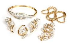 De reeks van juwelen Royalty-vrije Stock Afbeeldingen