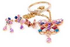 De reeks van juwelen Stock Afbeelding