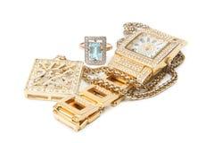 De reeks van juwelen Stock Foto's
