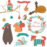 De reeks van Kerstmis Stock Foto