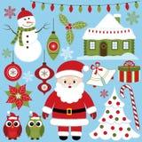 De reeks van Kerstmis Royalty-vrije Stock Foto's
