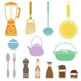De Reeks van keukencookware Royalty-vrije Stock Fotografie