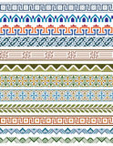 De reeks van 12 kleurt geometrische grenzen Stock Fotografie