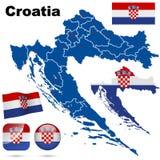 De reeks van Kroatië. stock illustratie